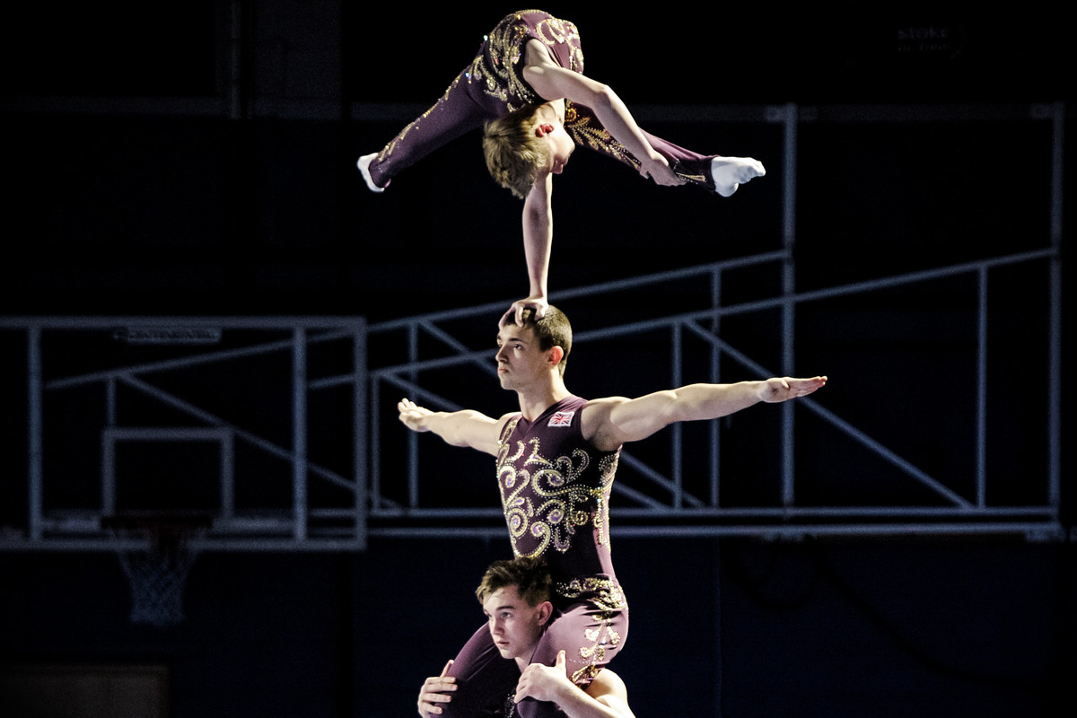 men's group of acrobatic gymnasts