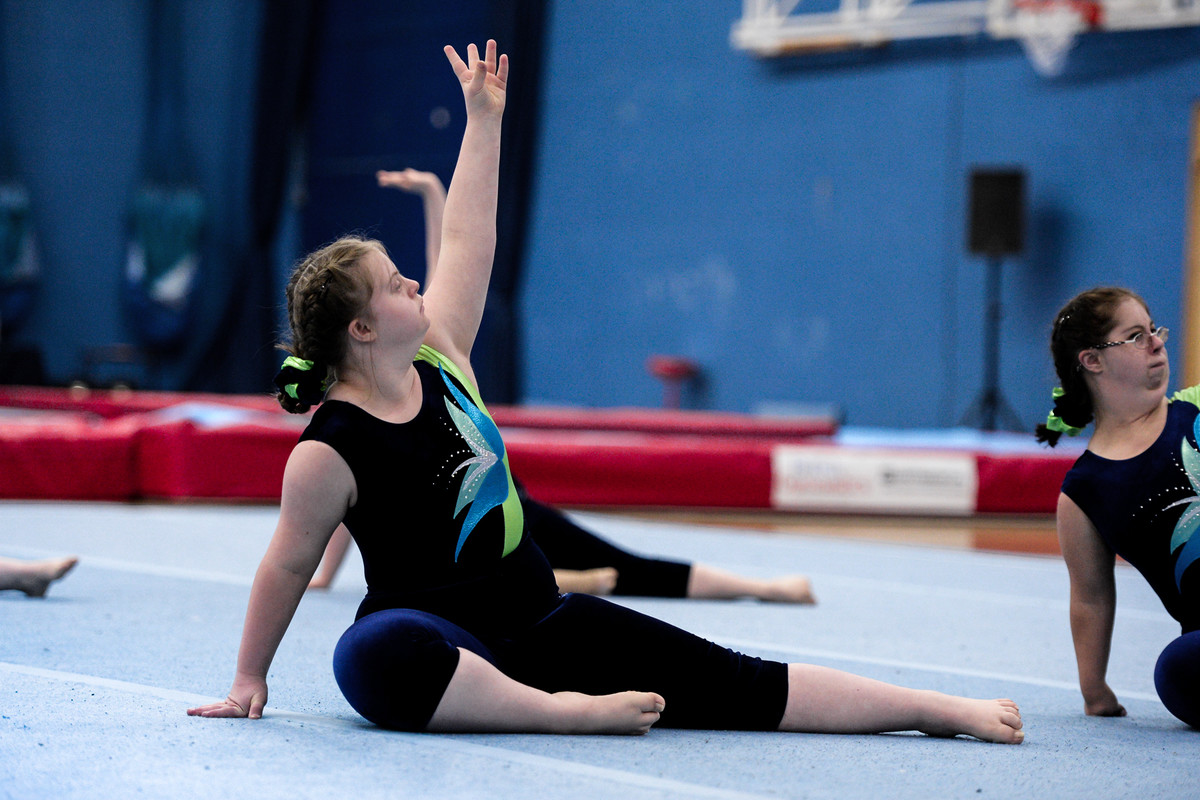 dedicated disability gymnasts in action