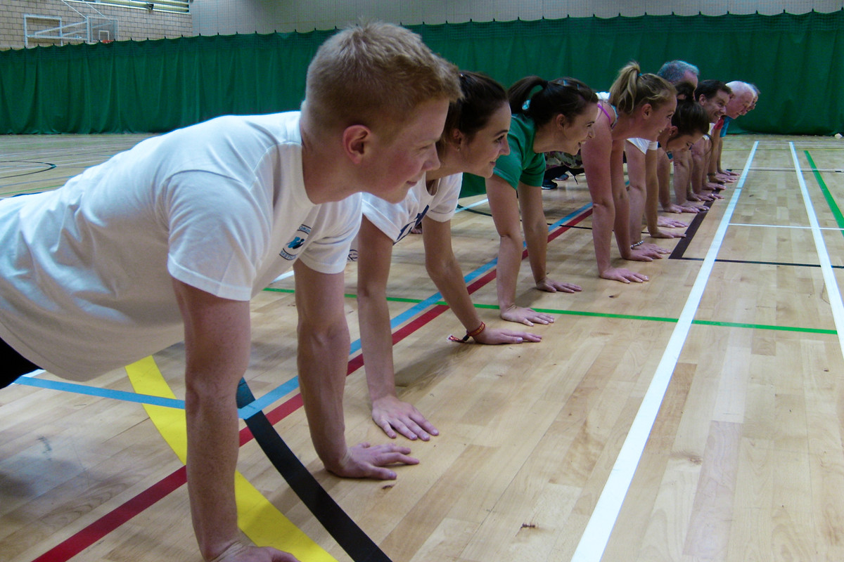 Planks and press ups for this group of GymFit gymnasts