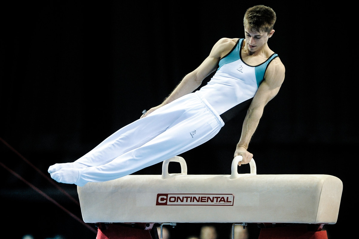 Max Whitlock shows his medal-winning pommel horse skills