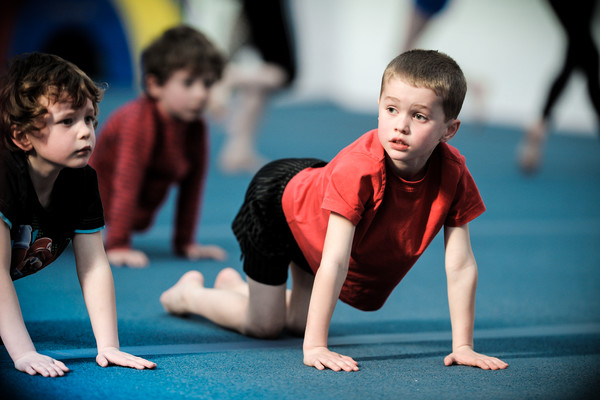 young gymnasts getting started and making new friends at their local club
