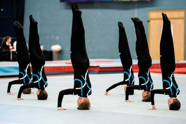 amazing group handstands from young TeamGym gymnasts