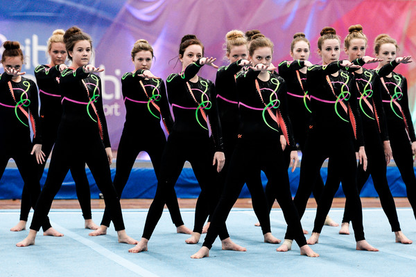 team display at the British Championships