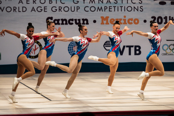 Performance at the aerobic gymnastics world age group competition