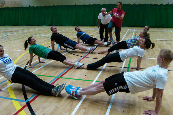 GymFit group get to grips with core strength and stability exercises